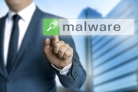 malware browser is operated by businessman.