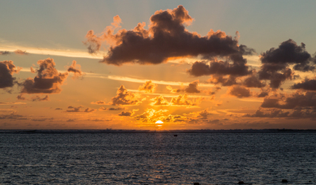 Sunset in Le Morne Mauritius.