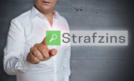 Strafzins (in german negative interest) browser is operated by man concept.