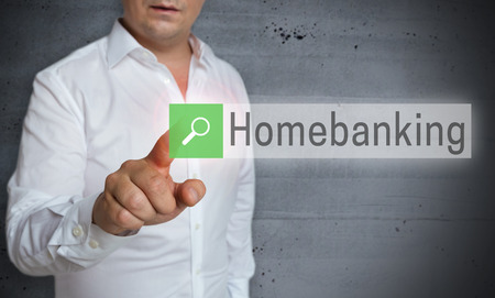 homebanking browser is operated by man concept.