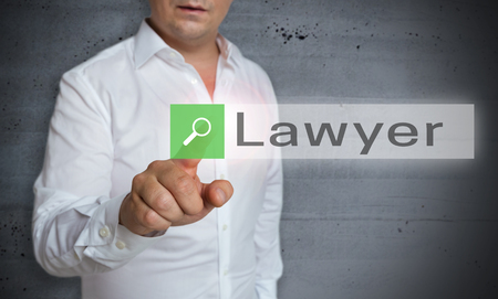 lawyer browser is operated by man concept.