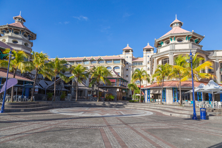 Photo for Port louis waterfront center capital of mauritius. - Royalty Free Image