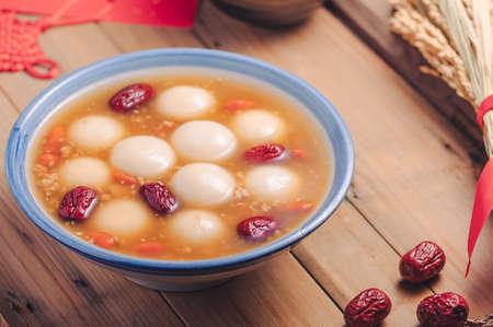 Foto de Chinese Lantern Festival Glutinous rice balls with brown sugar - Imagen libre de derechos