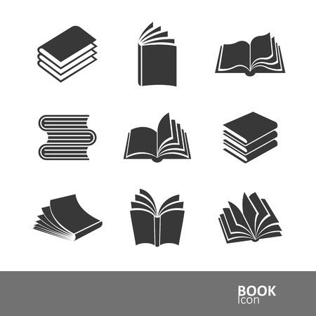 Illustration pour book silhouette icon set,vector illustration - image libre de droit