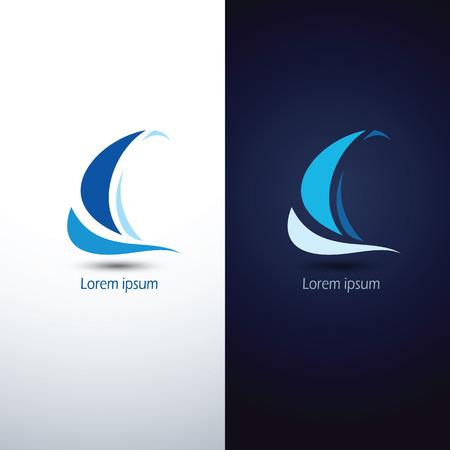 Ilustración de Sailing boat icon symbol ,vector illustration - Imagen libre de derechos