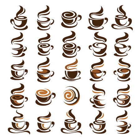 Illustration pour Coffee cup design icon set , vector illustration - image libre de droit