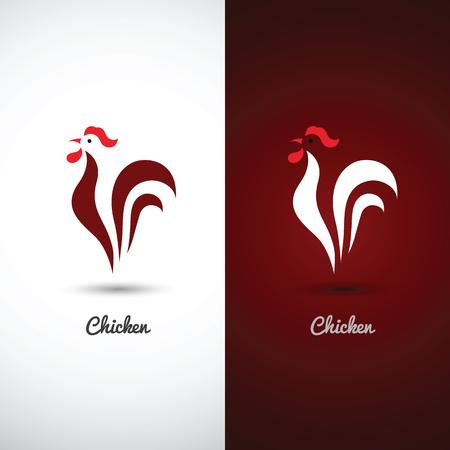 Illustration pour chicken and cock design symbol on white background - image libre de droit