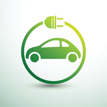 Illustration pour Electric car concept green drive symbol,vector illustration - image libre de droit