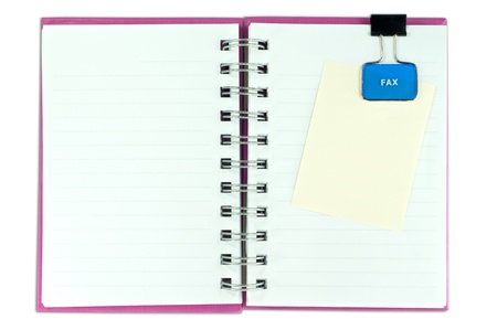 blank page of note book and note pad on white isolate,