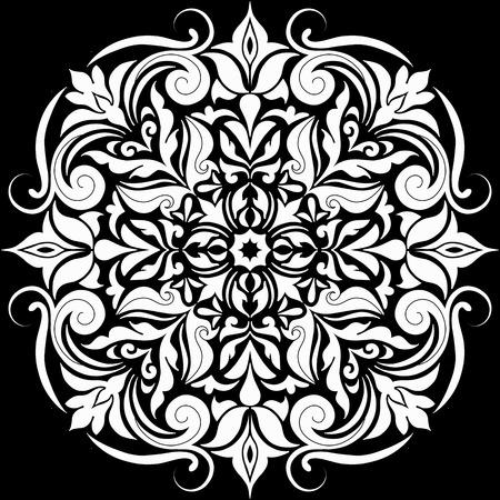 Ilustración de Abstract Flower design Mandala. Decorative round elements. Oriental pattern, vector illustration. - Imagen libre de derechos