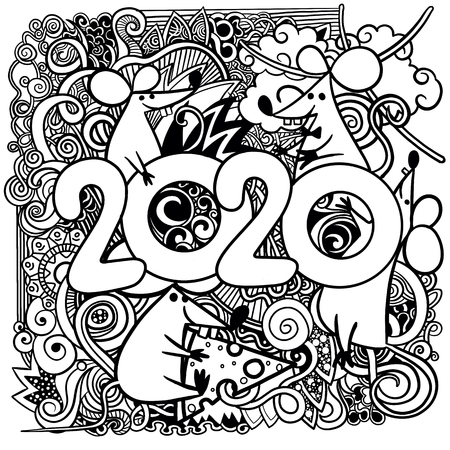 Happy New Year Doodle 86