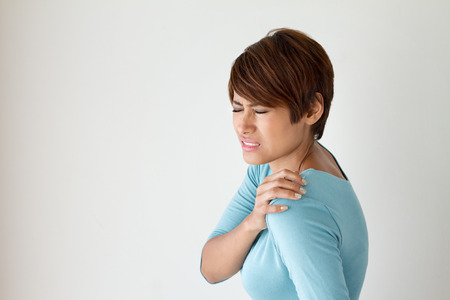 woman with shoulder pain or stiffness