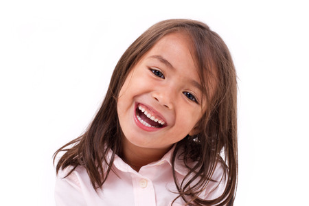 Photo pour cute little girl laughing - image libre de droit