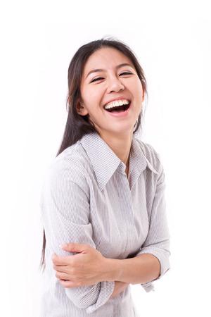 Foto de happy, laughing woman - Imagen libre de derechos