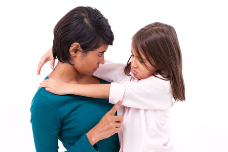 Photo for mother teaching discipline to her daughter - Royalty Free Image
