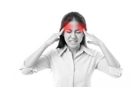 woman suffers from headache, migraine