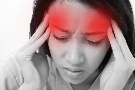 Foto de patient suffering from headache, stress - Imagen libre de derechos
