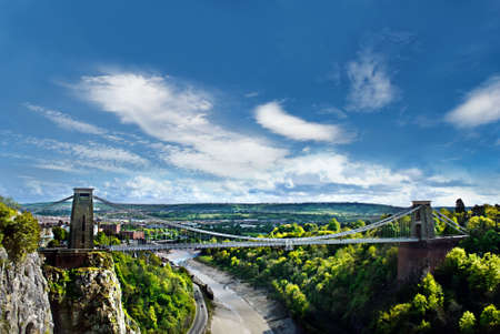 The World Famous Clifton Suspension Bridge, situated in Bristol, UK.