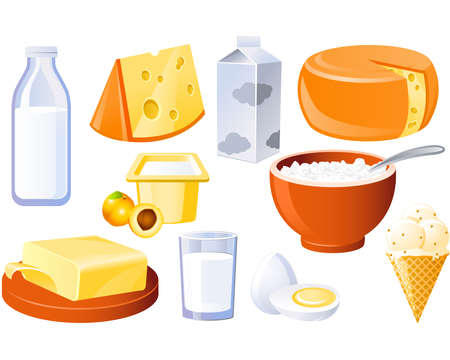 Dairy and poultry products, milk, butter and cheese