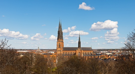 Uppsala. A city and cathedral panorama, Sweden