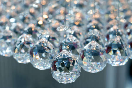 Bunch of diamond style luxury crystal balls