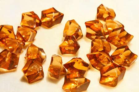 Big pile of semi precious amber stones