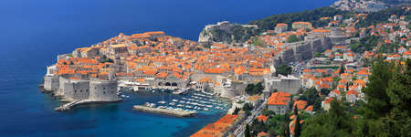 Cityscape panorama of Dubrovnik