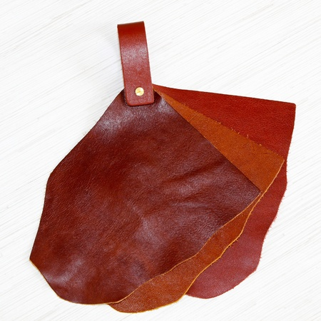 Genuine natural leather sampler for fashion industry