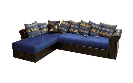 Blue corner set furniture isolated