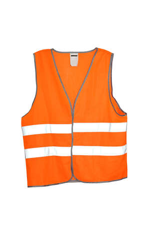 Orange safety vest isolated included.