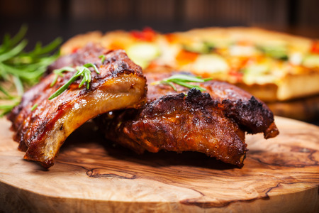 BBQ spare ribs with herbs