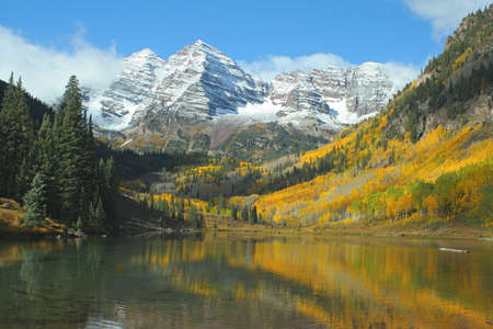 Maroon Bells Maroon Lake Autumn