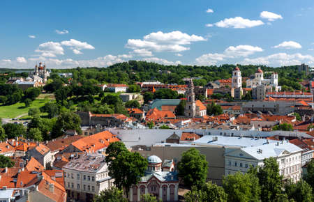 View of Vilnius old town on summer day