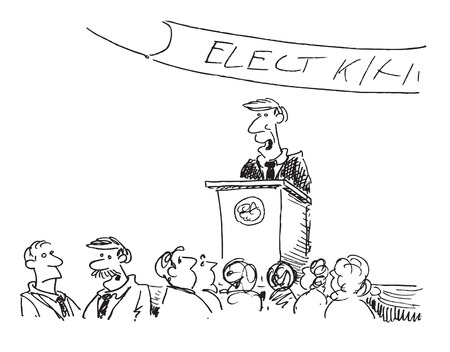 cartoon of a political speech