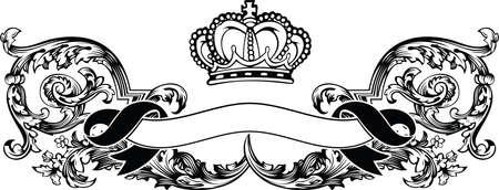 One Color Royal Crown Vintage Curves Banner