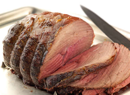succulent carved roast beef