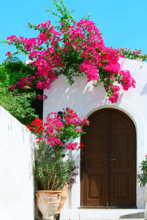 Door in Lindos - island Rhodes, Greece