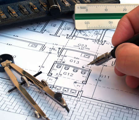 architect designing a house