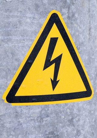 Danger, sign high voltage