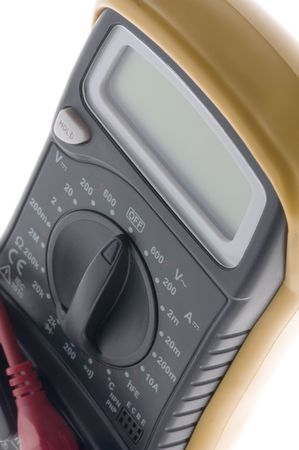 object on white - electrical measurement - Digital multimeter