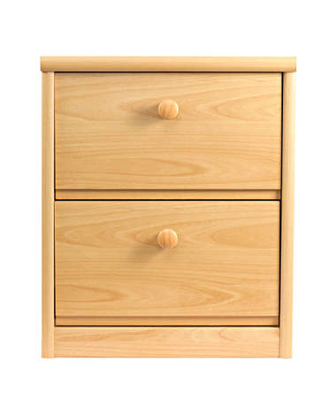 Small drawer cabinet isolated on white background