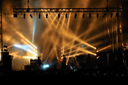 Stage lighting at a concert