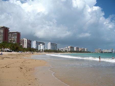Isla Verde Beach in San juan Puerto Rico