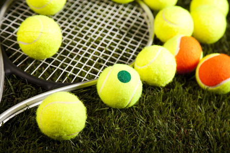 Sport Tennis Racket And Balls