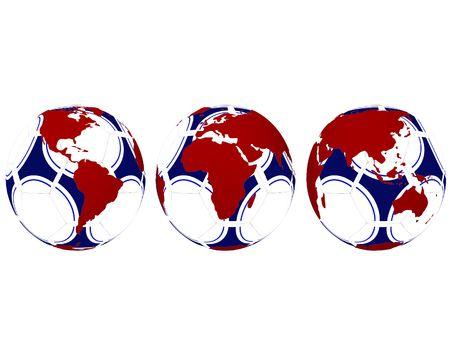 World Map on soccerball