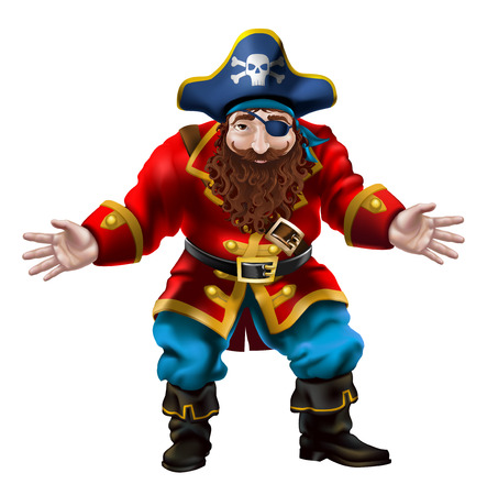 Illustration of a pirate character