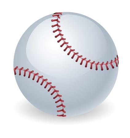 An illustration of a shiny baseball ball