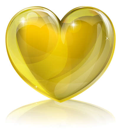 "A golden heart concept. Could be for a ""heart of gold�, i.e. kind or loving or an award for good service or similar."