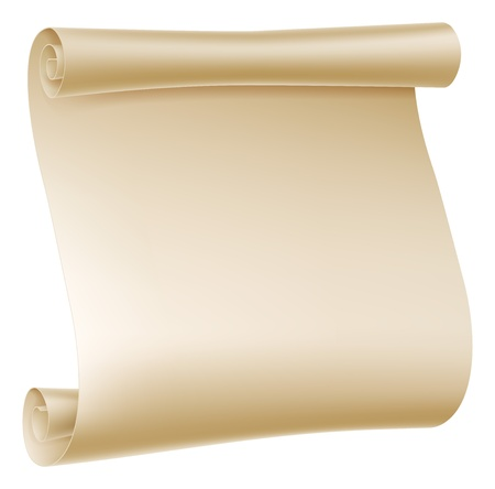 Background illustration of an old rolled up paper scroll