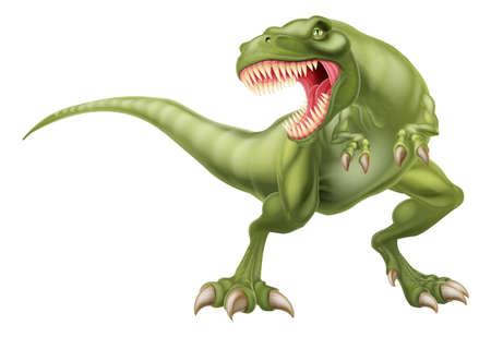 An illustration of a mean looking tyrannosaurs rex t rex dinosaur